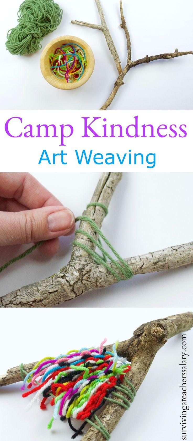 Camping Craft: Art Weaving Camp Freundlichkeit Freundschaftsaktivität   – Our Top Posts