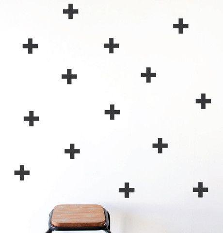 Shop Wall Stickers - Sml Crosses in Matt Black at FURNISH