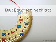 Collar egipcio para niños. Diy: Egyptian necklace