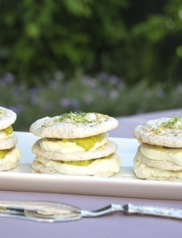 Coconut Dacquoise with Lime Cured and Figs