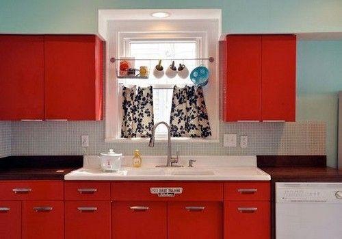 Оформление кухни в ретро-стиле