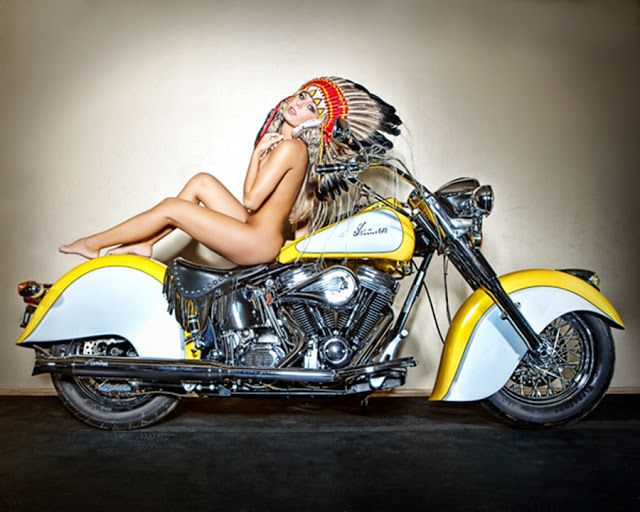Motos Antigas : Indian Motorcycle Girl