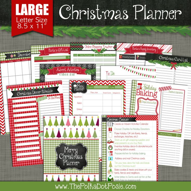Christmas truly is the most wonderful time of the year, so dont let holiday stress turn your Ho Ho Ho into Bah, Humbug. Get organized EARLY this holiday season with our Merry Christmas Printable Planner!!  This {PRINT-AT-HOME} set includes:   CHRISTMAS CHECKLIST:  This handy list can serve as both a ToDo list and seasonal bucket list for you and your family.   ADVENT ACTIVITIES CHECKLIST:  Fill out your Advent Activities checklist with a fun activity or tradition each day of Advent. Some…