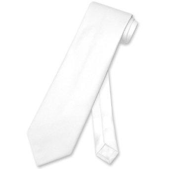 Vesuvio Napoli NeckTie Solid WHITE Color Men's Neck Tie: Amazon.com: Clothing