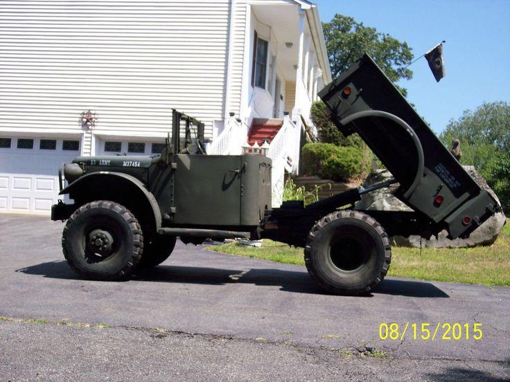 M37 Military Dodge Power Wagon Dump Truck V8 Runs & Looks Great | cool vehicles | Pinterest ...