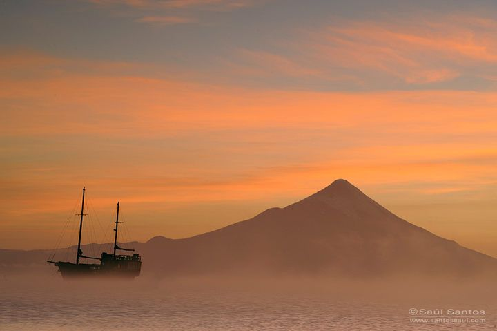 dawn in the city of Puerto Varas, Llanquihue Lake, Chile