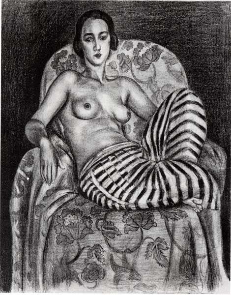 Henri Matisse, Grande Odalisque à la Culotte bayadère (1925)  This painting make…