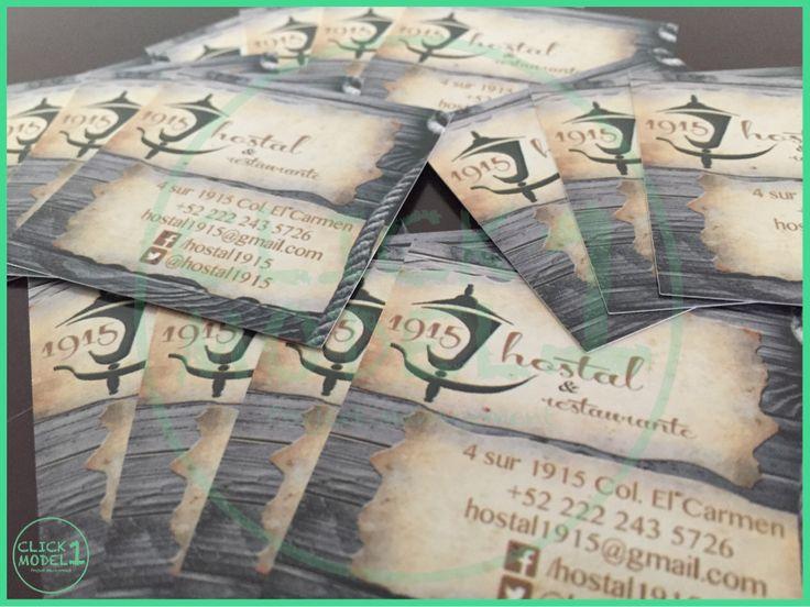Photo and graphic design by #click1model #photo #businesscard #restaurante #puebladezaragoza #messico #hostal1915