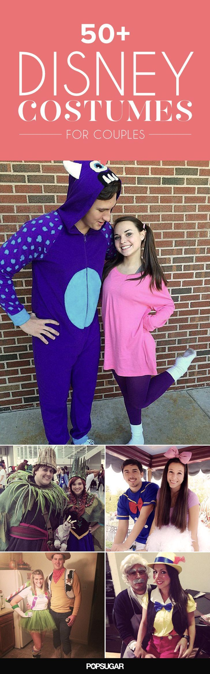 Get cute with your love with these 50 Disney inspired costume ideas!