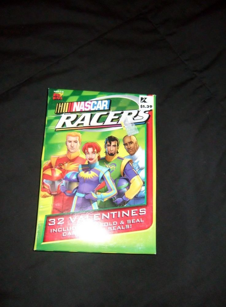 New Fox Kids  Nascar Racers 32  kids Valentines  & Seals  USA free  ship