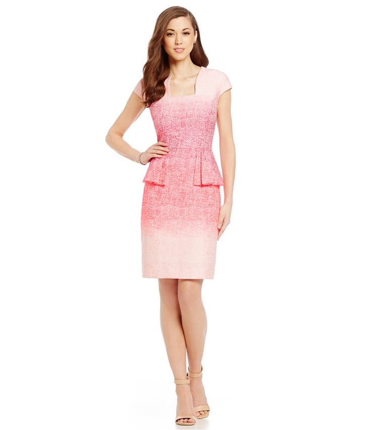 Antonio Melani Jadlyn Ombre Jacquard Dress