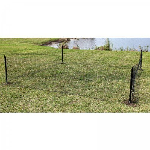 Rabbit fence kit  quot h black w by easy