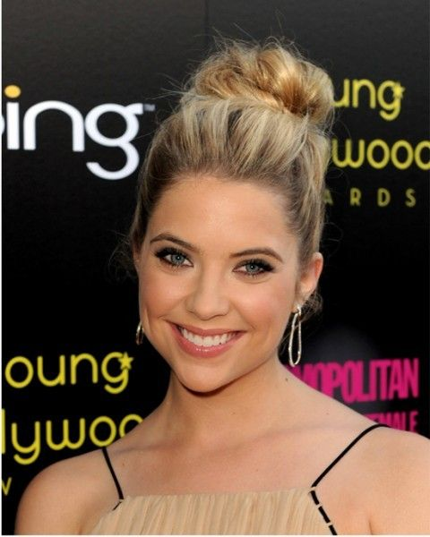 High bun: Just grab your hair in a puff pony, twist the hair to form a bun and s…