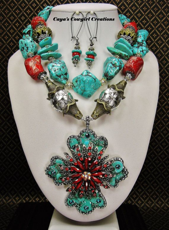 Southwest Necklace / Cowgirl Necklace / by CayaCowgirlCreations