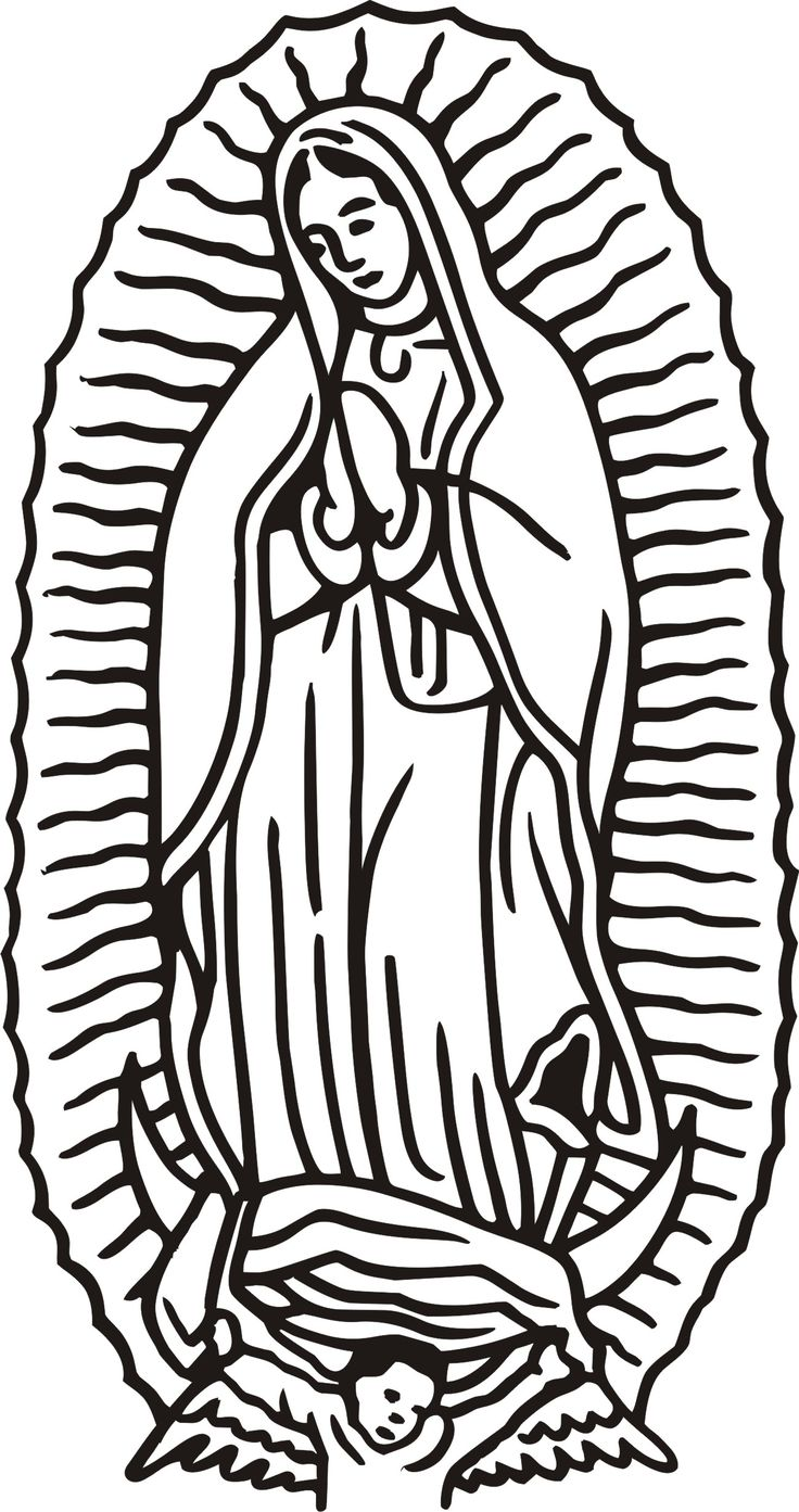 Virgen De Guadalupe Coloring Page Mary Tattoo Virgen De