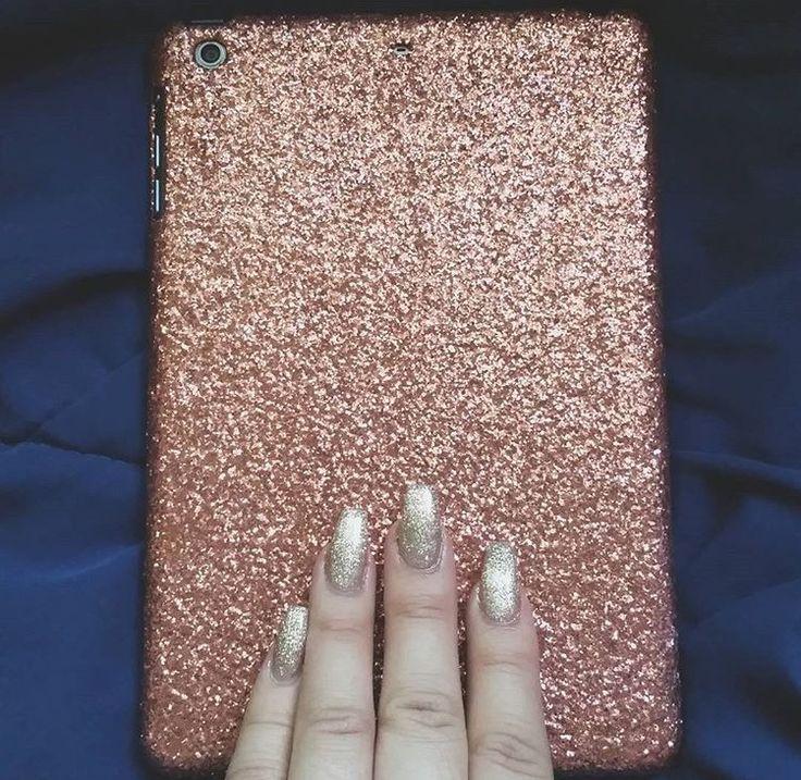 Glitter iPad Case- Rose Gold