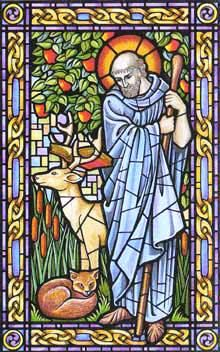 5th March - Patron Saint of Cornwall and Tinmen !  Image of St. Piran