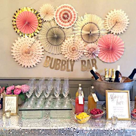 Bubbly Bar, Paper Rosettes, Pop, Fizz, Clink