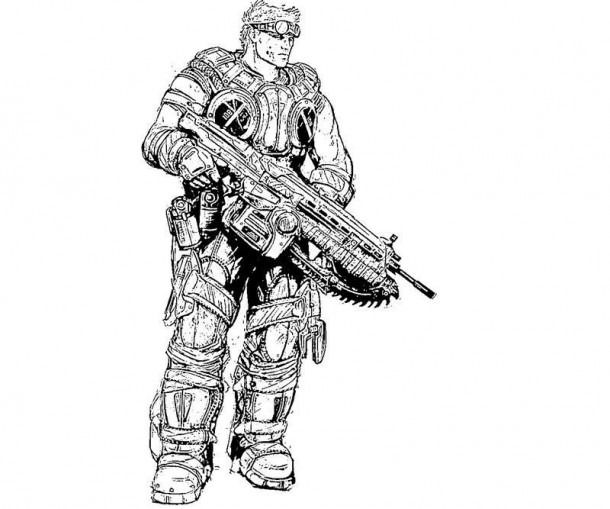 Coloring Pages Gears Of War Gears Of War Coloring Pages Animal Coloring Pages