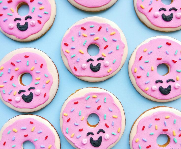 Donut worry just be happy! Cookies by Gingerbread Corner.