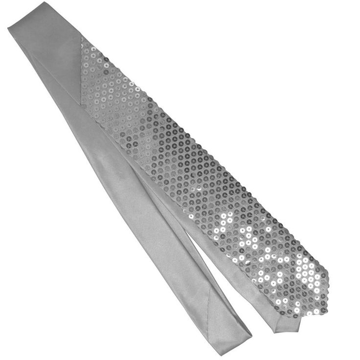 Sequin sparkle necktie (silver sequins): Material: Polyester Color: Dark  Gray Size(Approx): x 2 L * W) This necktie and will make a great addition  to any ...