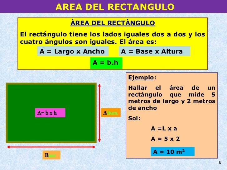 Area De Un Rectangulo Con Imagenes Area Rectangulo Area Y