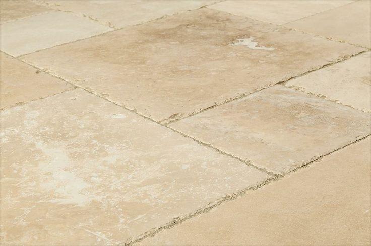 BuildDirect – Antique Pattern Travertine Tile – Denizli Beige Standard - Angle View