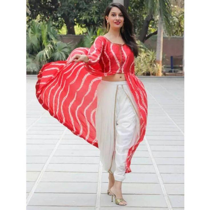 @shreekalashree.designstudio on Instagram: Shibori tie dye with dhoti pants