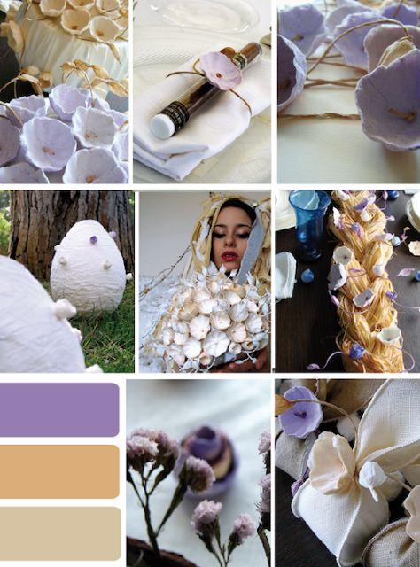 Eco wedding design : Palette Colori: il matrimonio eco in Viola, Lilla e ..... !!!