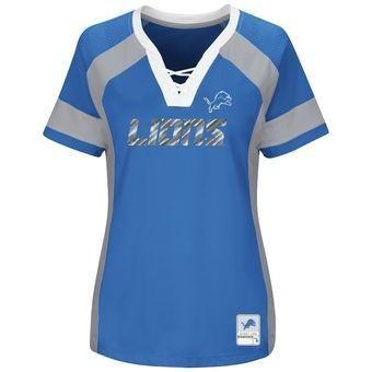 NFL Detroit Lions Women's Plus Size Draft Me V-Neck T-Shirt