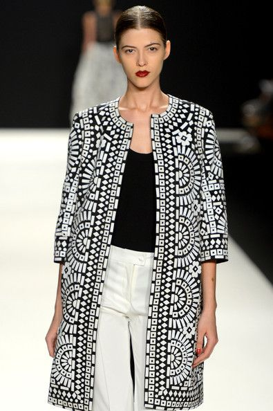 Naeem Khan, black and white amazingness