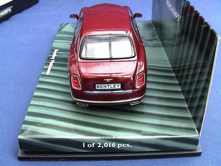 Minichamps 436139901. 2010 Bentley Mulsanne. Red Metallic.
