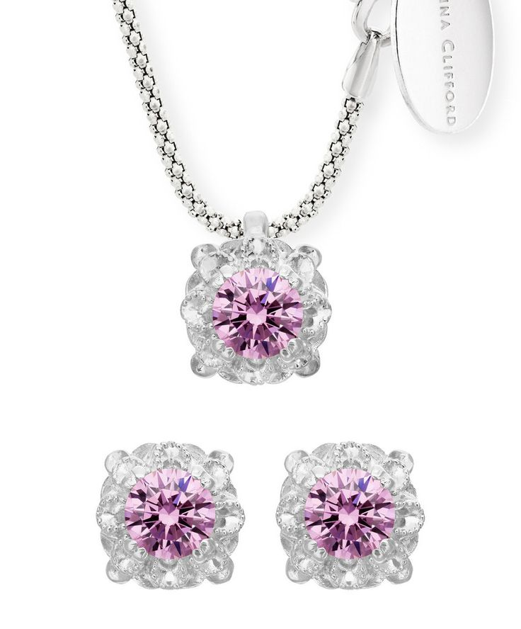 Would not mind finding this beautiful set under my Christmas tree. Daisy Stud Earring and Pendant Offer www.jennaclifford.com