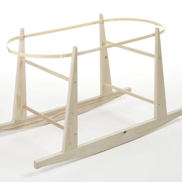 Moses Basket Stand - Eco Rocker (Natural) - mbm rocking stand