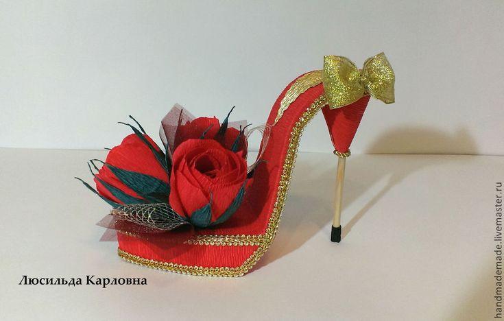 Купить Дамские штучки - розовый, дамские штучки, сумочка, туфелька для золушки, туфли, букет из конфет