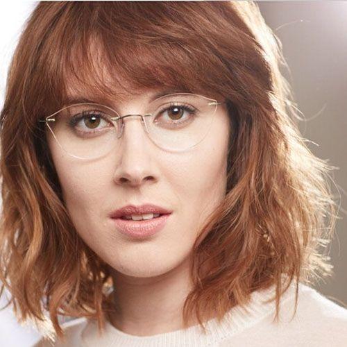 2017 Women Cat Eye Glasses Frame Myopia Rimless Eyeglasses Ultralight Eye Wear Metal Gafas  Oculos De Grau Feminino