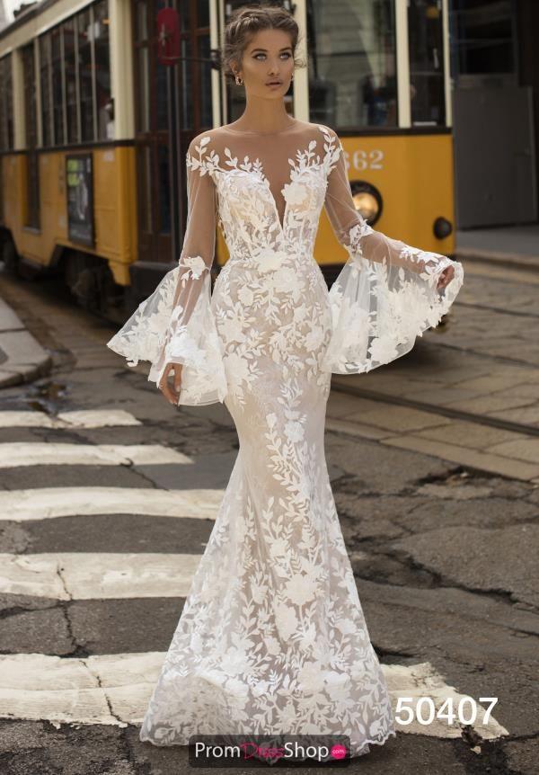 Tarik Ediz Long Lace Dress 50407