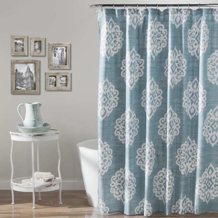 Classic Yet Modern This Shower Curtain Will Brighten Up Any Space With Its Damask Pattern
