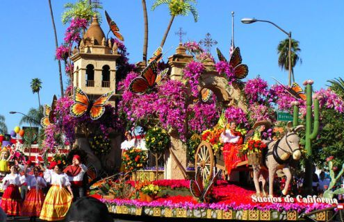 Experience one of the most vibrant and energetic parades in California. On January 1st, the annualTournament of Roses Parade will be a delightful and captivating visual event, followed by the exciting Rose Bowl football game. Tickets are available if you want to sit comfortably during the show, as opposed to stand and watch from the street.