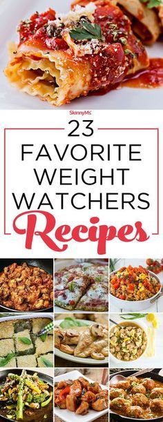 23 Favorite Weight Watchers Recipes!