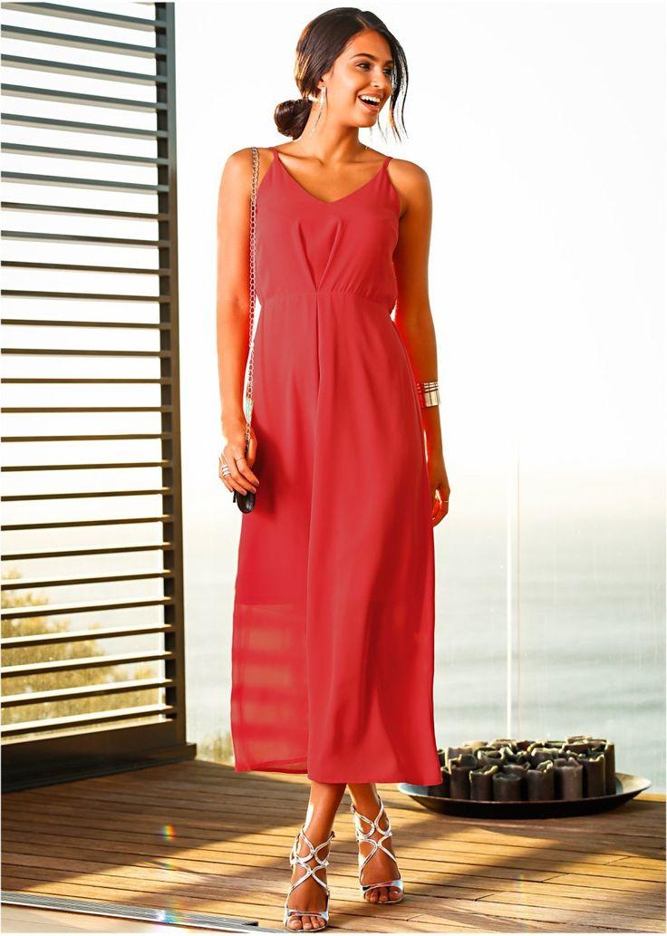 Πολύ θηλυκό μακρύ φόρεμα, της BODYFLIRT, με ρυθμιζόμενες τιράντες και λάστιχο στη μέση. Το μεσοφόρι φτάνει μέχρι το γόνατο. Μήκος περίπου 112 εκ. (χωρίς τις τιράντες). Εξωτερικό υλικό: 100% πολυέστερ. Φόδρα: 100% πολυέστερ.