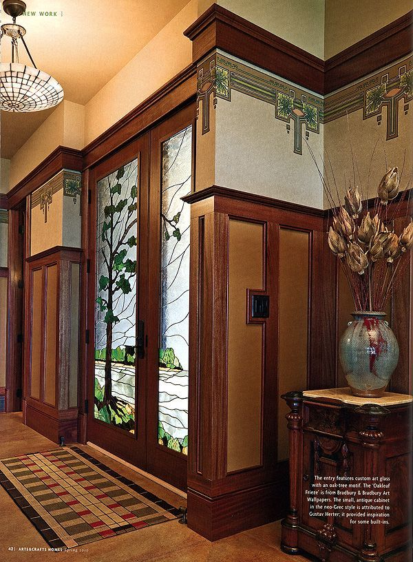 10 best ideas about craftsman wallpaper on pinterest for Craftsman picture rail