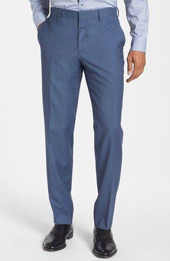BOSS HUGO BOSS 'Genesis' Flat Front Trousers | Nordstrom