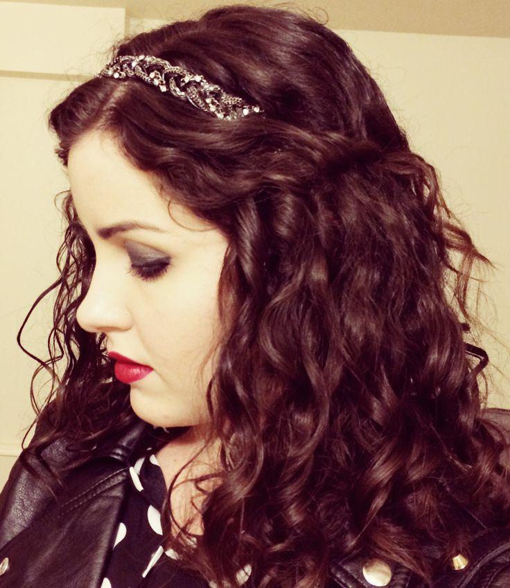 Headband. Hot Topic. Tiara. Curly Hair. Curl. Cachos. Cabelo Cacheado. Penteado. Easy. Fácil. Se Joga no Blush.