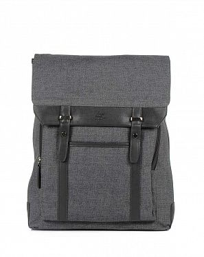 Городской бизнес рюкзак для ноутбука Toppu Design MFG Black 464
