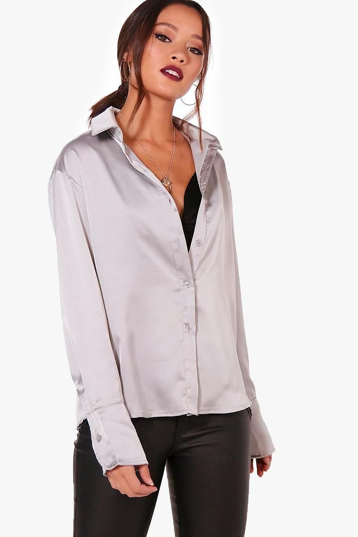 c71918f83e Pin by tom mat on Women in shirts | Satin shirt, Online shopping clothes,  Shirts