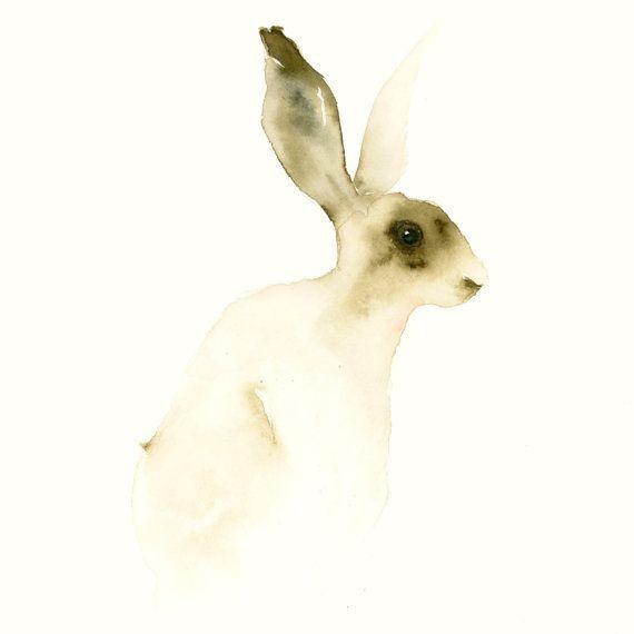 Hare  Fine Art Animal Print from Original by dearcatherina