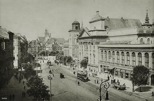 Warsaw - Krakowskie Przedmieście Street 1938