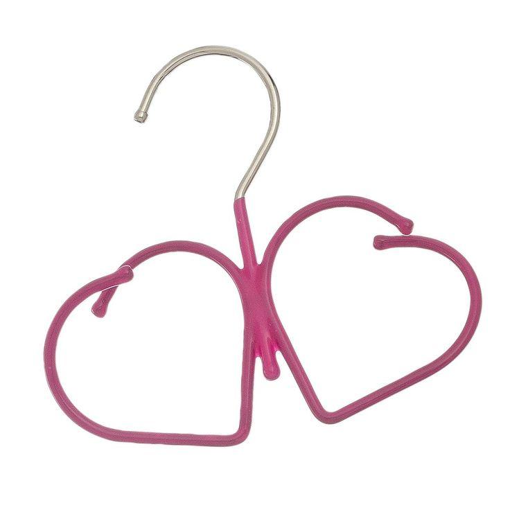 Heart Design Non Slip Rubber Coated Hanging Closet Scarf Hanger ~ Jewelry  Hanger