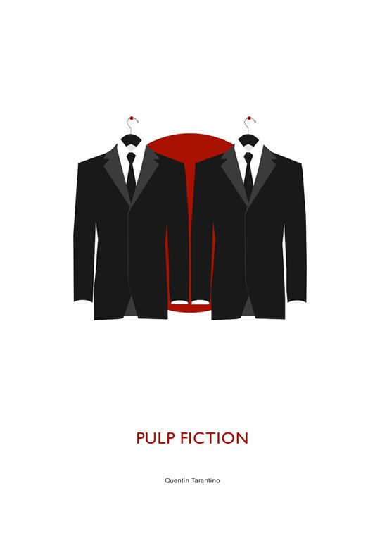 Pulp Fiction (1994) ~ Minimal Movie Poster by Steven Williams #amusementphile